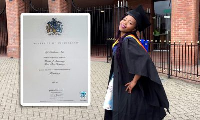 Grundtvig Alumnus Bags University of Sunderland 1st Class Honours Masters Degree
