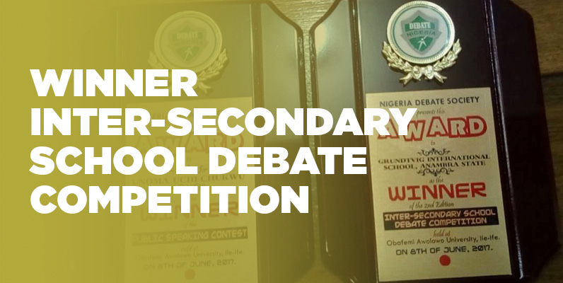Grundtvig Inter Secondary School Debate Competition Nigeria Debate Society