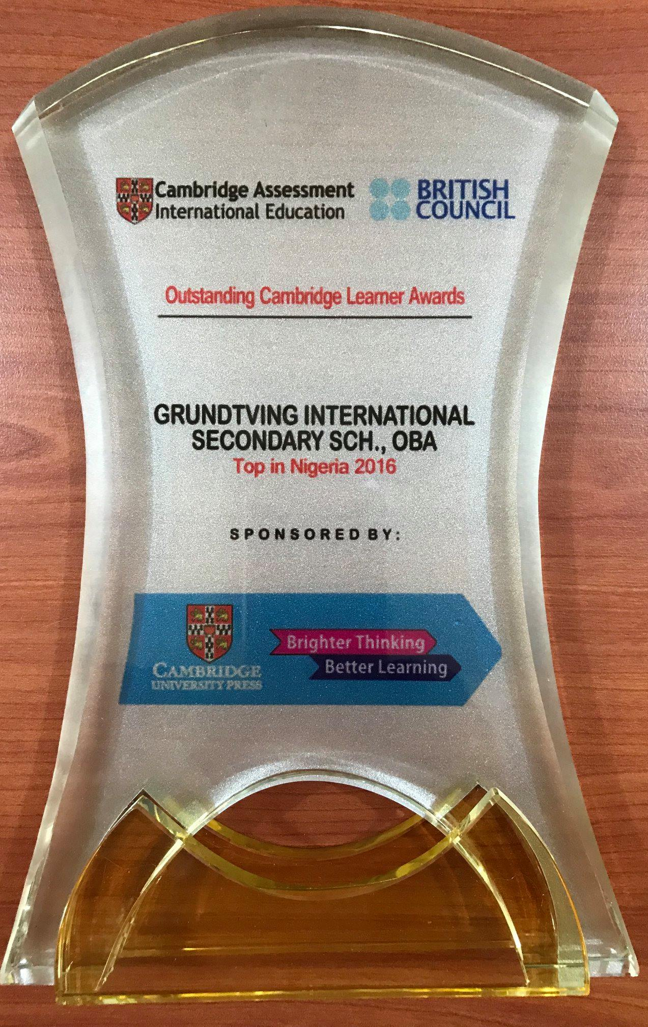 Outstanding Cambridge Learner Awards 1