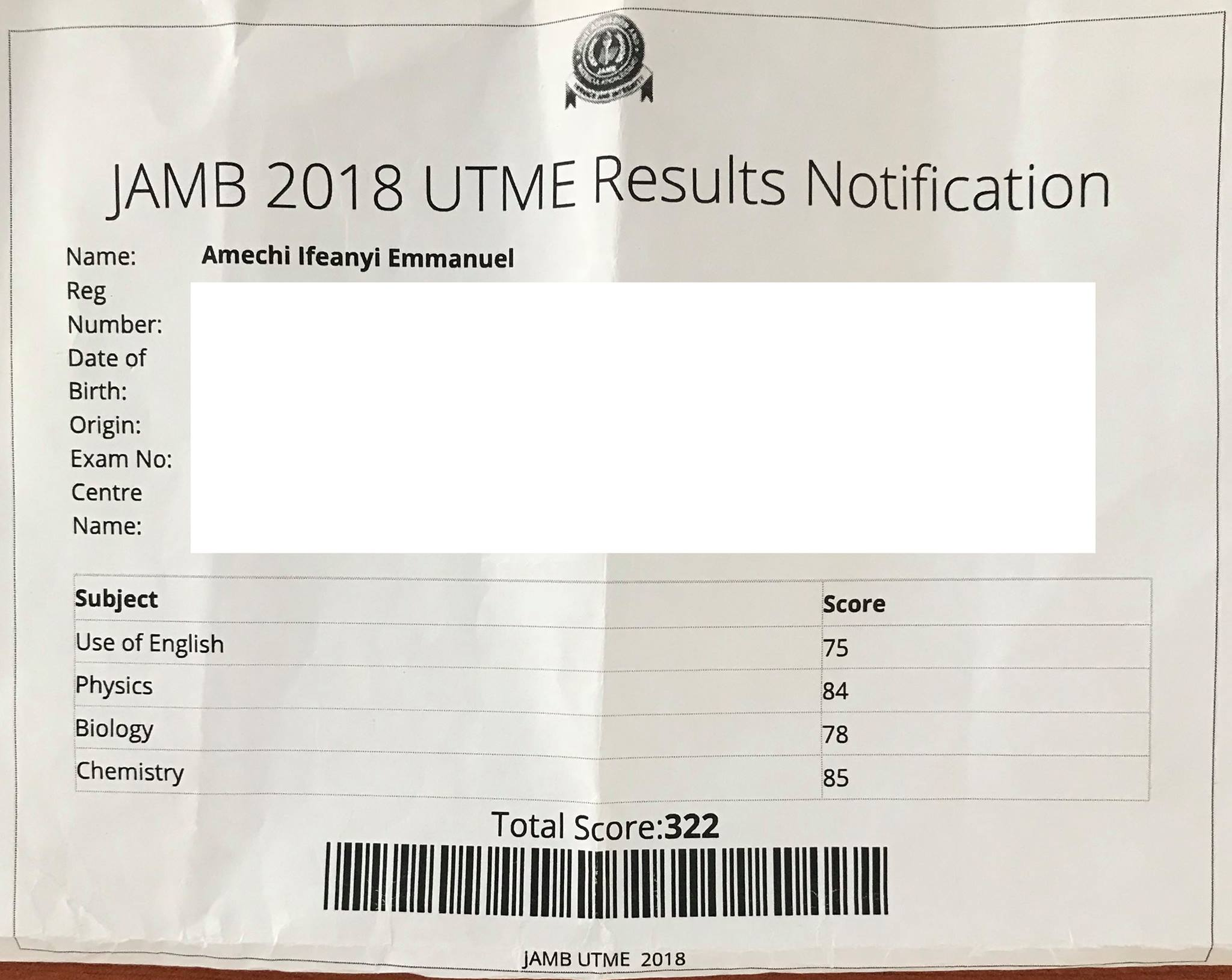 Grundtvig Class of 2018 Achieve JAMB Score of 322